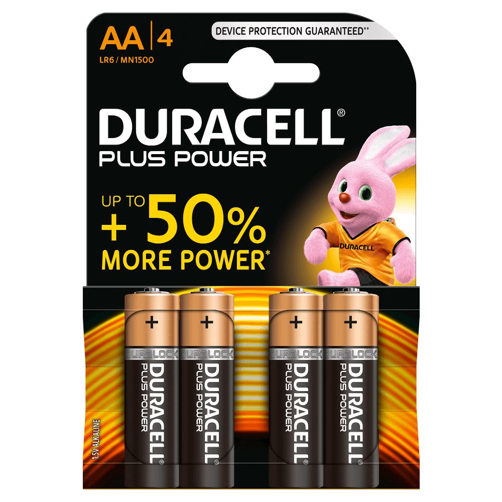 piles aa duracell plus power. Black Bedroom Furniture Sets. Home Design Ideas