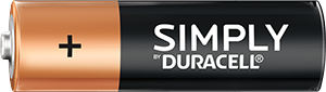 Simply pile AA Duracell