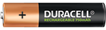 Pile rechargeable AAA Duracell 750mAh