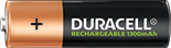 Pile Duracell Rechargeable AA Duracell 1300mAh