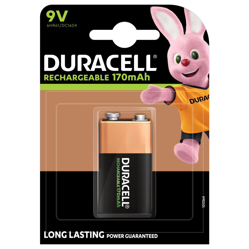 Pile Duracell rechargeable 9V 170mAh